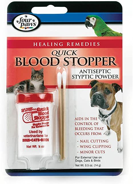 Four Paws Blood Stopper Gel 1.16 Oz Styptic Quick Nail Stop minor cuts clipping