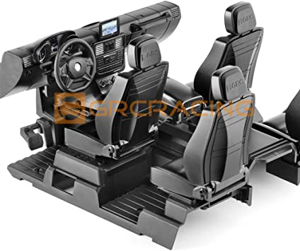 INJORA RC Interior Kit Set RC Crawler Interior con Asiento Hard Plastic RC Accesorios para 1/10 RC Crawler TRX-4 G500 TRX-6 G63