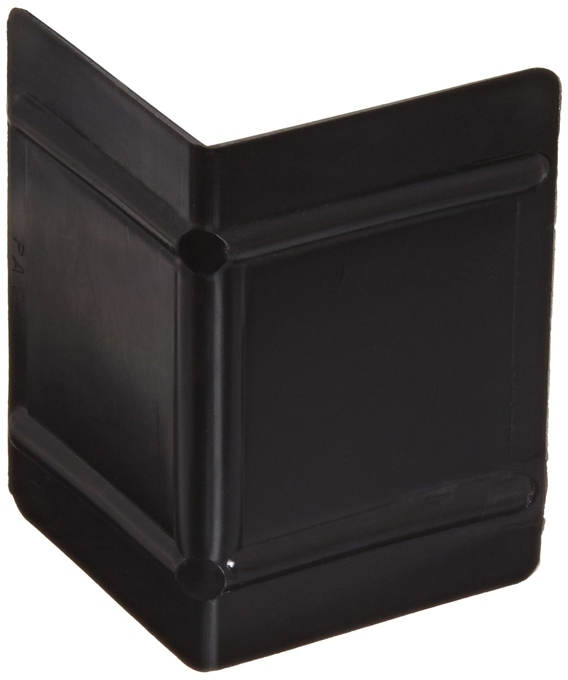 Nifty Products SCP25 Plastic Corner Protector, 1-3/4'' Length x 2-1/2'' Width, Black (Case of 1000)