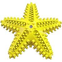 Juguete Estrella de mar de hule para higiene dental de perros, con 2 funciones, pues es un juguete y dispensador de…