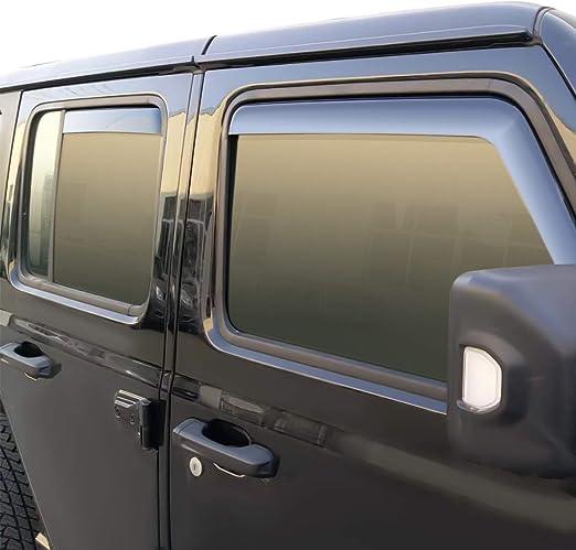JDM Out-Channel Vent Visors 4pcs Deflector For Jeep Wrangler 4 Door 2007-2016