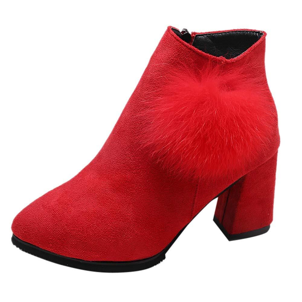 OHQ Stiefel Damen Frauen Elegant Wildleder Stiefel Kurz