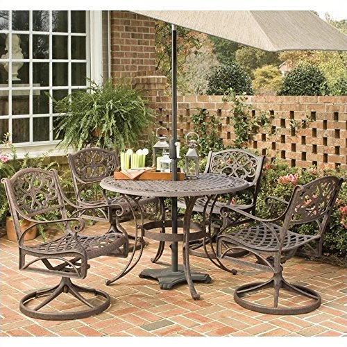 Home Styles 5555-305 Biscayne 5-Piece Outdoor Dining Set, Rust Bronze Finish, 42-Inch Review