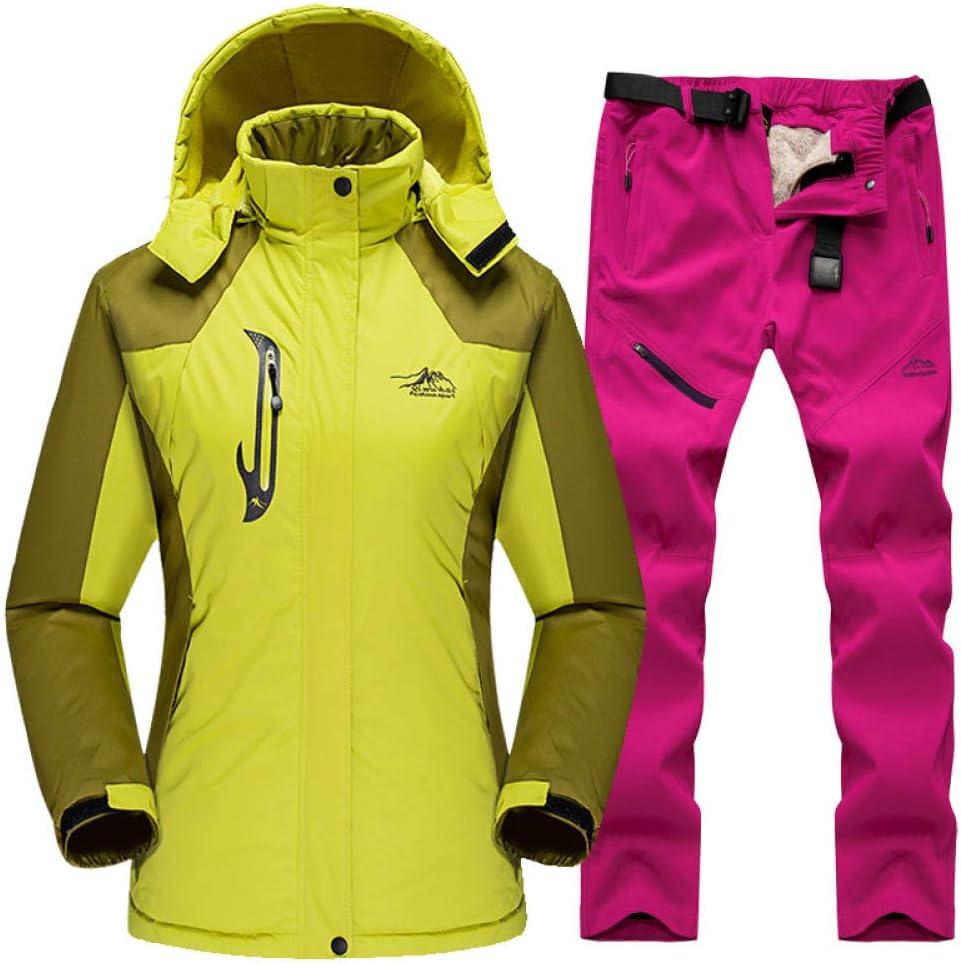 Skianzug Winter F/ür Frauen Outdoor Sport Wasserdicht Winddicht Snowboard Jacke Hosen Weiblichen Schnee Skifahren Fleece Kleidung Sets