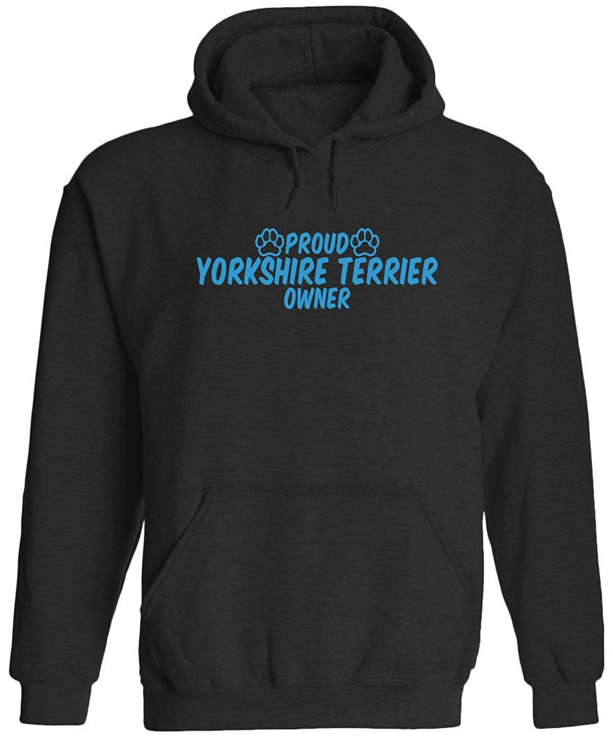 Unisex Adult Hooded Pullover Sweatshirt Austin Ink Apparel Proud Yorkshire Terrier Owner Blue