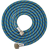 "Master Airbrush Premium 6 Foot Nylon Braided Airbrush Hose with Standard 1/8"" Size Fitting on One End and a 1/4"" Size Fitting on the Other End (Hose color may vary)"