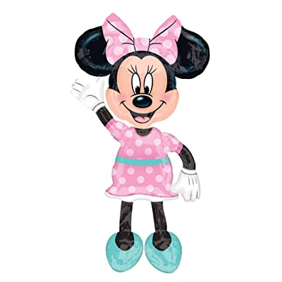 "Anagram 34331 Minnie Airwalkers - Pink Dress Foil Mylar Party Balloon, 54"", Multicolor, Pack of 1: Toys & Games"