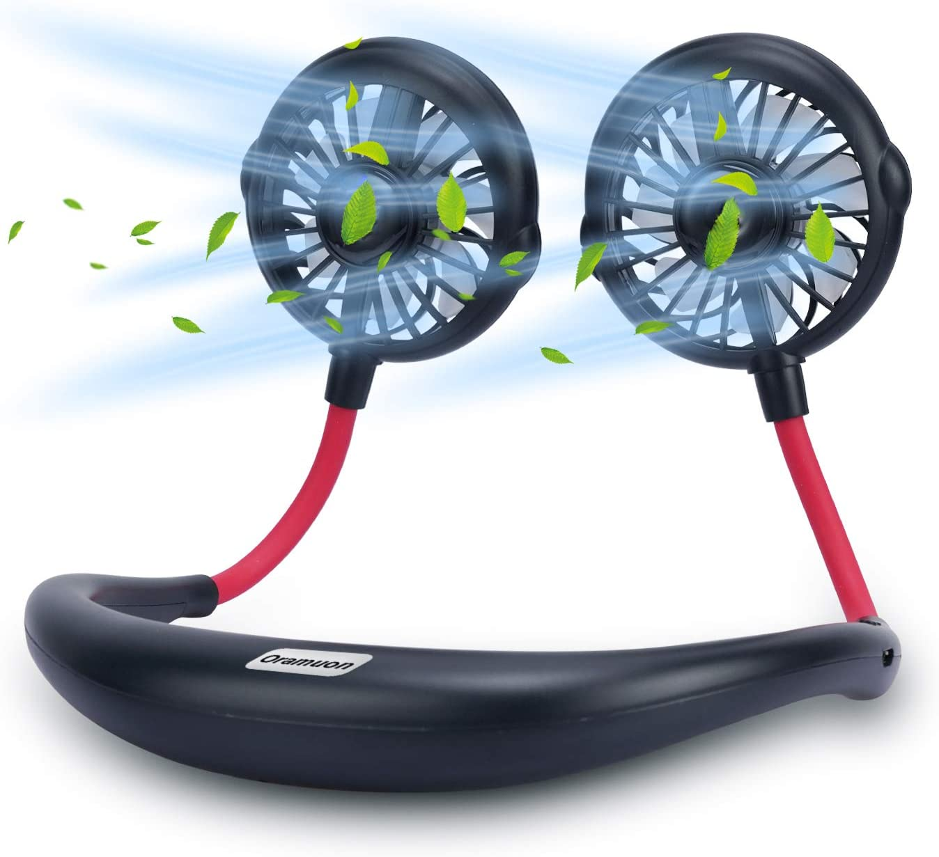 Office GINEKOO Portable Mist Neck Fan Travel Personal Spray Fan with 3 Level Air speeds and 360/° Free Rotation Perfect for Outdoor Sport Hand Free Mini USB Fan Rechargeable