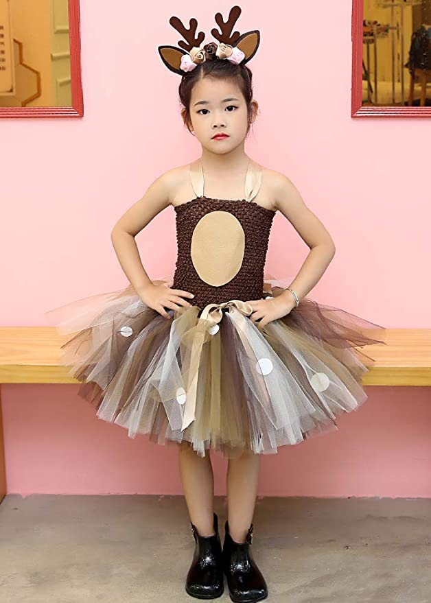 Amazon.com: Tutu Dreams - Disfraz de ciervo para niña de 1 a ...