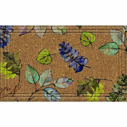 Naturelles Natural Leaves Door Mat, 18-Inch by - Fiber Mat Recycled