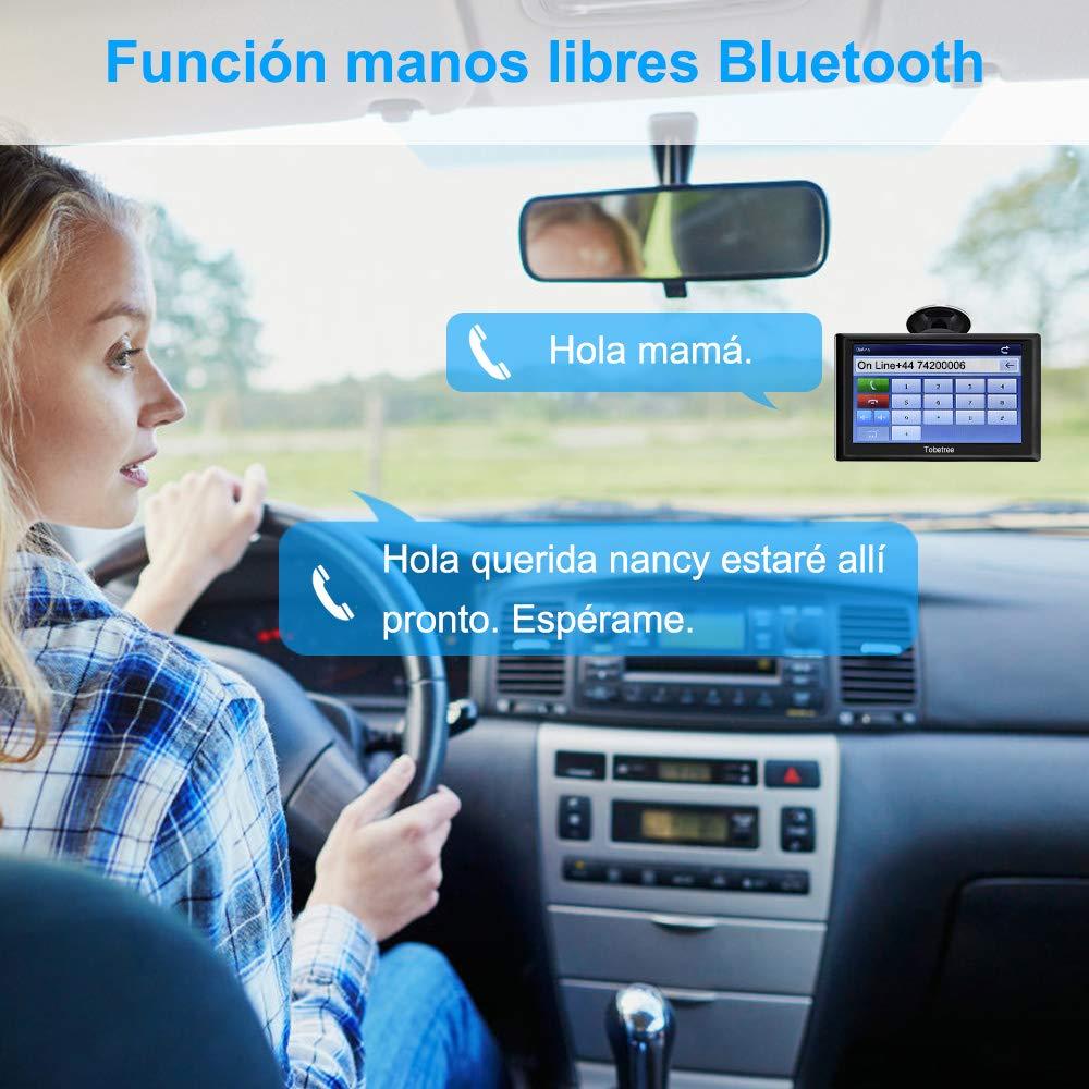 Tobetree MT988 - GPS Coches, 7 Pulgadas Navegador GPS para Coche con Bluetooth, Gratis de Mapa de Europa Toda la Vida