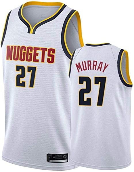 Jersey De Hombre - NBA Denver Nuggets 27 Tops De Baloncesto Murray James Chaleco De Camisa De Baloncesto Jersey De Malla Bordado Swingman,A-M: Amazon.es: Hogar
