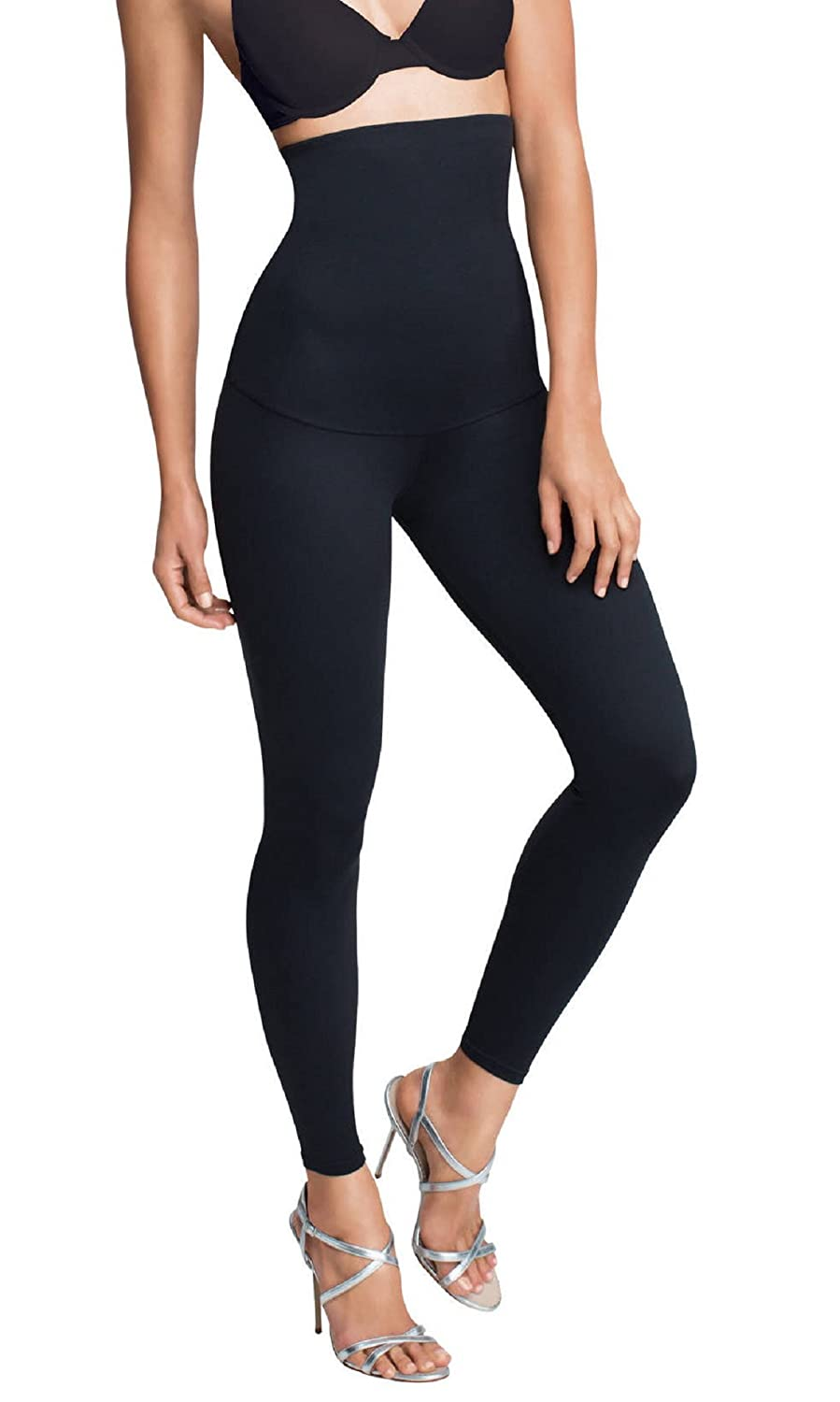 Minimize Slimming Leggings Women Ladies Belly Busting Anti-Cellulite Firming Smoothing Seamless, High Waist Shape, Tummy Support (Set of 1 Black S-3XL)