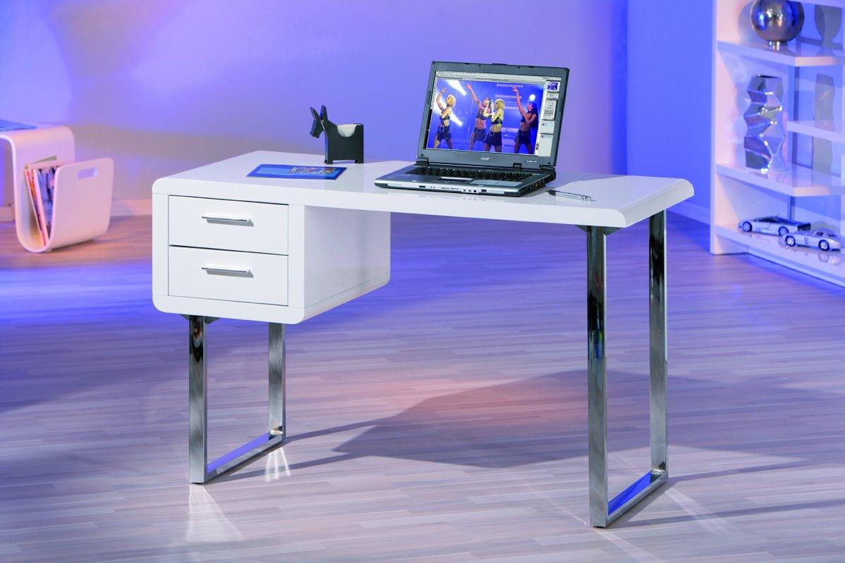 Computertisch drucker modern  Links 50501010 Schreibtisch weiß hochglanz Computertisch PC-Tisch ...