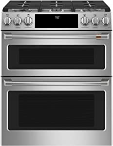 "Cafe 30"" ADA Slide-In Front Control Gas Double Oven With Convection Range"