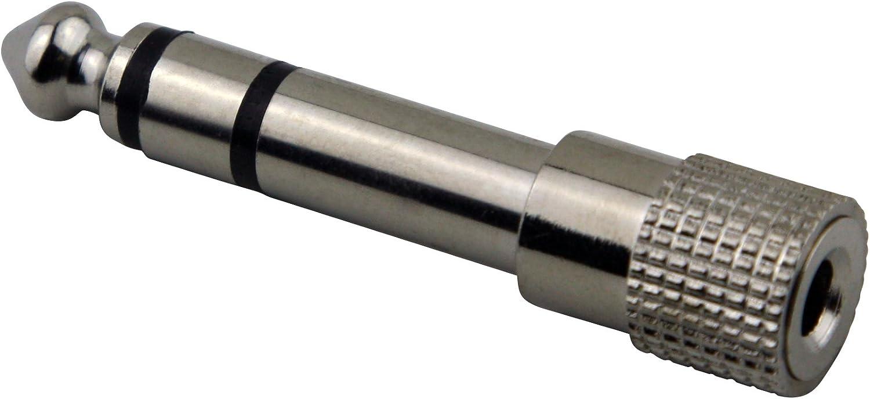 "5-Pack Pig Hog 3.5mm Female to 1//4/"" TRS Stereo Male Plug Adapter 1//8/"" Headphone"