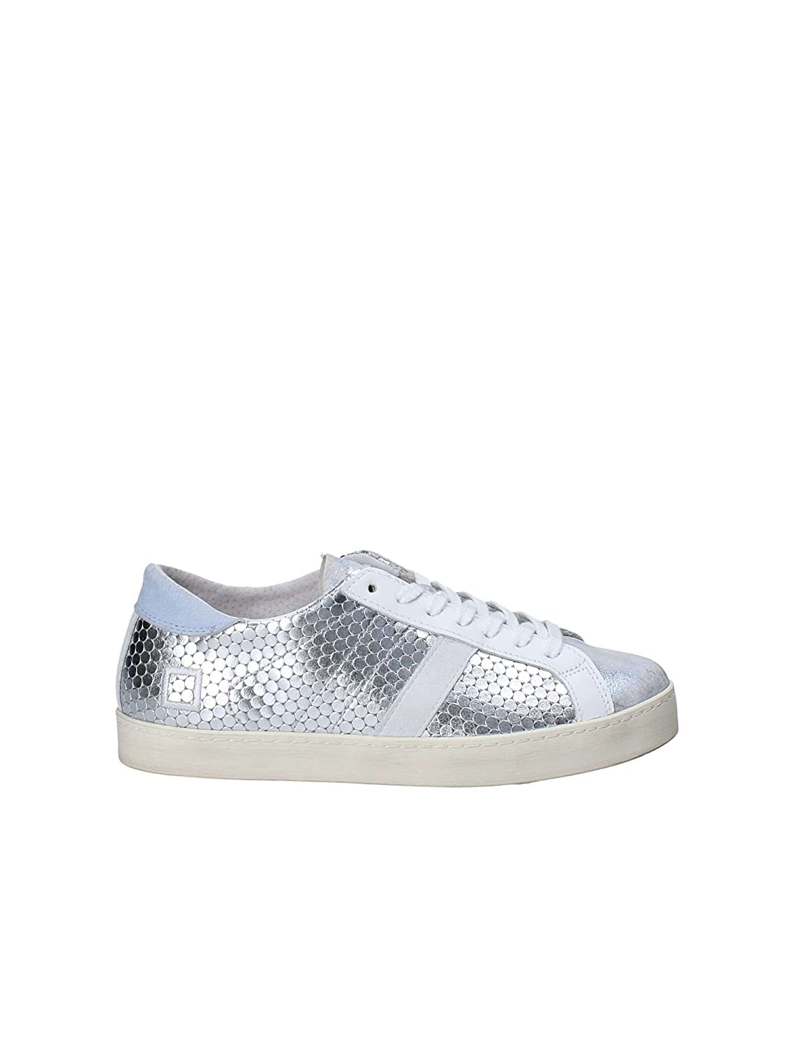 D.A.T.E. Date Hill Low Pong Laminated Sneakers Mujer 39 EU|Plata
