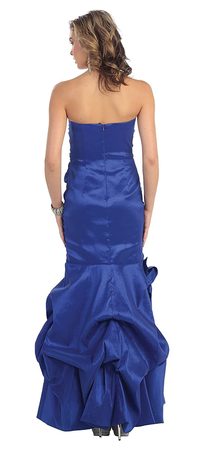 May Queen MQ758 Mermaid Prom Stretchy Dress - Blue -: Amazon.co.uk: Clothing