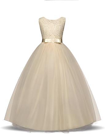 ThePass Baby Girls Dress Sleeveless Tulle Skirt Floral Party Princess Dresses