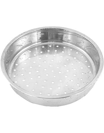 Rejilla de vapor - SODIAL(R) utensilios de cocina estante redondo de vapor de