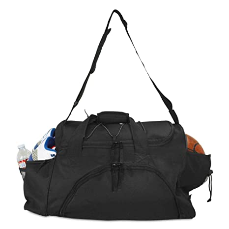 DALIX 24 quot  The Dagger Basketball Duffle Bag Sports Shoe Ball Holder  Duffel w Shoulder Strap 08be12885a769