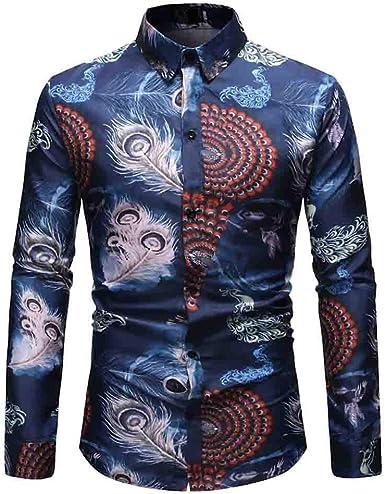 Poachers Camisas de Hombre Primavera Camisas Hawaianas Hombre flamencos Camisas Hombre Otoño Fiesta Camisas Hombre Verano Manga Larga Camisetas Hombre Originales 3D: Amazon.es: Ropa y accesorios