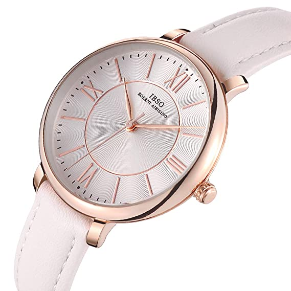 Women Creative Leather Watches Quartz Analog Roman Numeral Watch Waterproof Unique Fashion Design Wristwatch (8240