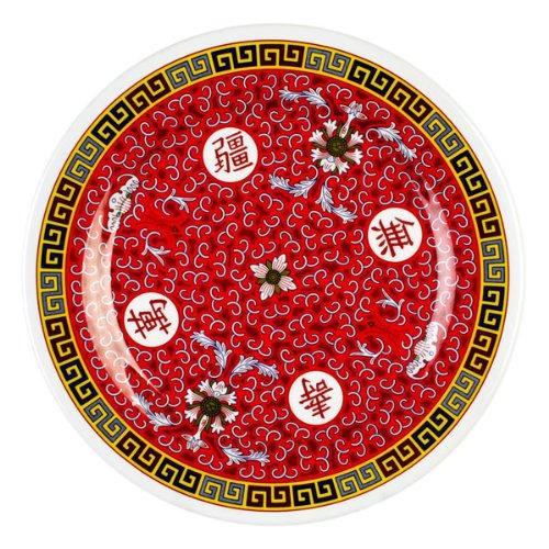 Thunder Melamine 6-Inch Dinner Plate, 1006TR, Heavy-Duty Plastic Tableware (PACK of 12) (Chinese Plates)