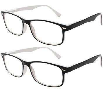 a84d675dab TBOC Gafas de Lectura Presbicia Vista Cansada - (Pack 2 Unidades) Graduadas  +1.50 Dioptrías Montura de Pasta Bicolor ...