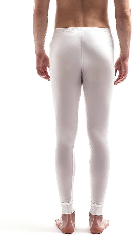 Jasmine Silk Mens Pure Silk Thermal Long Johns Ivory