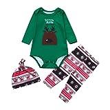 Family Pajamas Sets Matching Christmas Pajamas Xmas Cartoon Deer Sleepwear Sets Nightwear Baby Infant Pajama Set Outfit