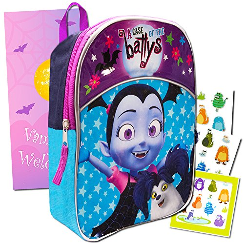 Disney Vampirina Toddler Preschool Backpack Set - Deluxe 11 Inch Mini Backpack with Stickers and Door Hanger by Vampirina