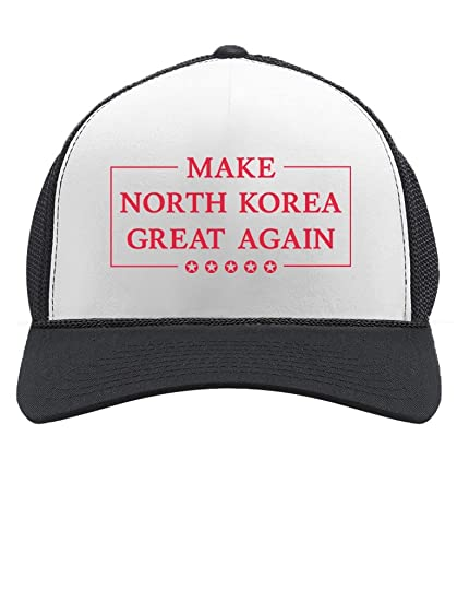 d0a76fc841bd7 Tstars - Make North Korea Great Again Funny Trump Kim Trucker Hat Mesh Cap  One Size