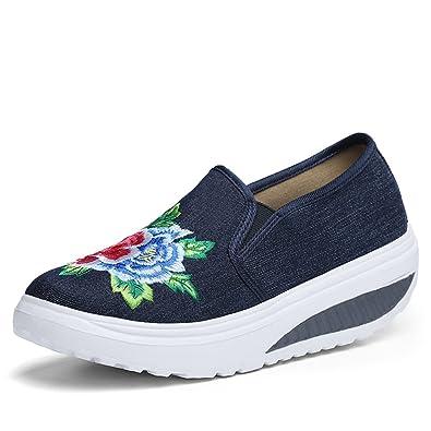 XMeden , Chaussures de marche nordique pour homme - bleu - bleu marine,
