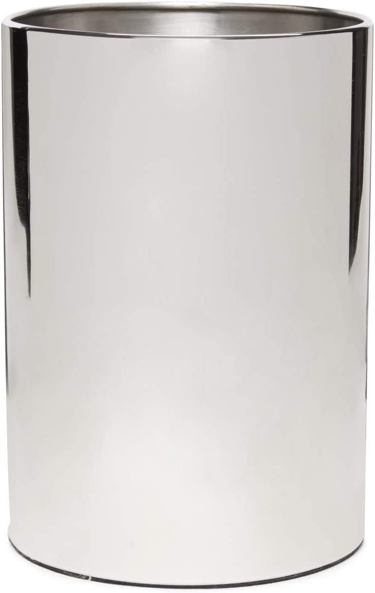 Calvin Klein Home Strata Bath Collection, Waste Basket, Stainless Steel