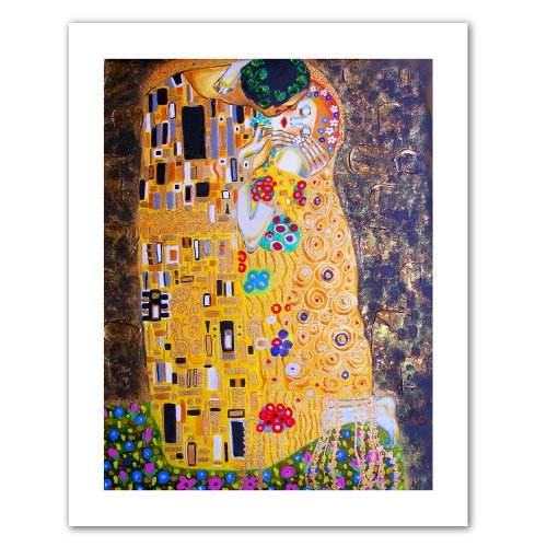 Art Wall My Klimt Kiss Unwrapped Canvas Art by Susi Franco, 36 by 28-Inch