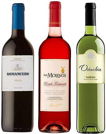 Pack de Vinos Rioja Romancero Cosecha 75cl - Valdepeñas Rosado Los ...