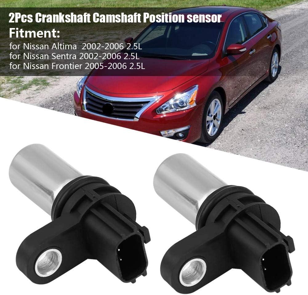 2Pcs Crankshaft Camshaft Position Sensor for Frontier 2.5L 23731-6N21A Crankshaft Position Sensor