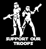 Storm Troopers Support Our Troops Decal Vinyl Sticker|Cars Trucks Walls Laptop|WHITE|5.5 In|URI211