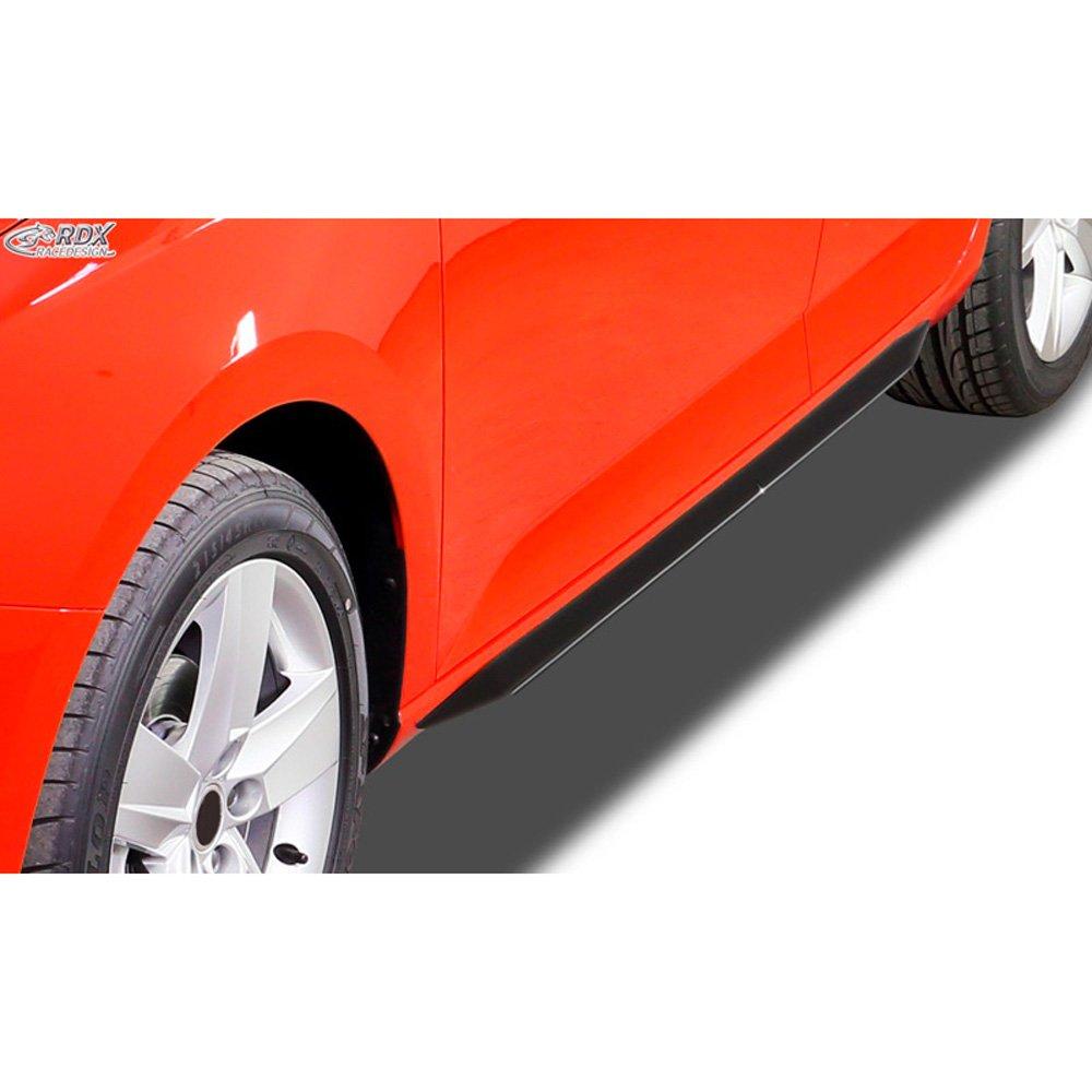 RDX Racedesign RDSL594 lato gonne 'Slim' Seat Ibiza 6J SC/HB/ST 2008 –  2017 (ABS lucido), nero