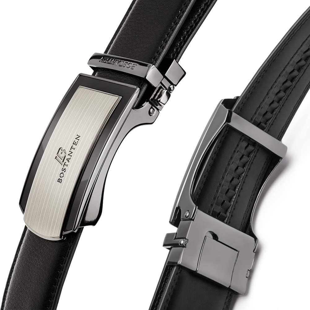 Bostanten Cintur/ón Cuero Para Hombres Piel Cinturones hebilla autom/ática Mens Belt
