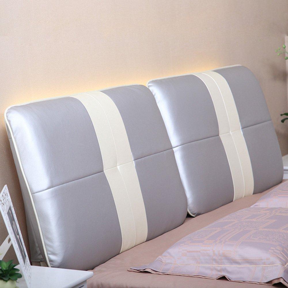 Persönlichkeit Bedside Soft Case Keine Bedside Kissen Große Rückenlehne  Doppelbett Leder Kissen Bett Abdeckung 1 Kopfkissen ( Farbe : A , Größe :  180cm ) ...