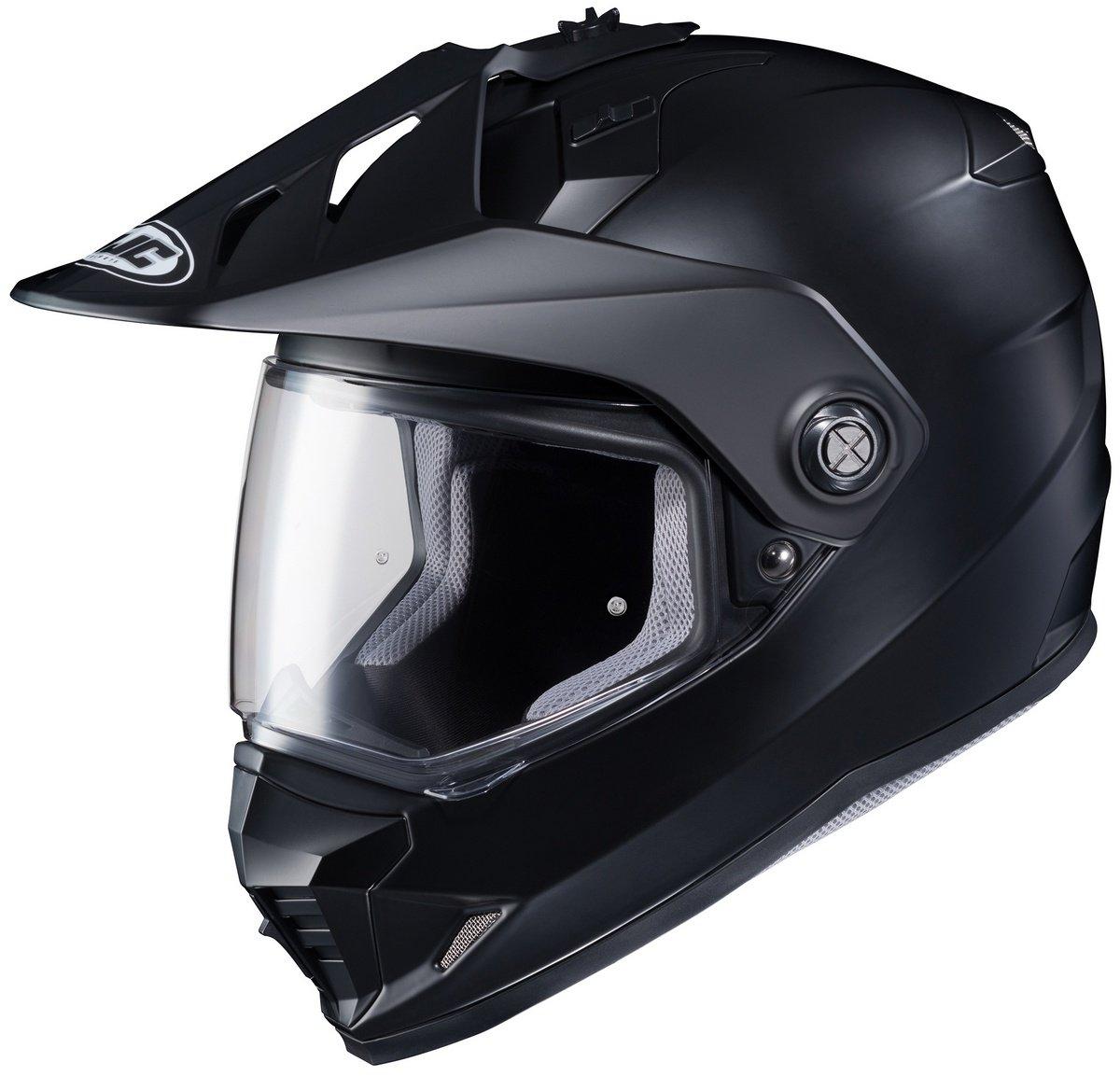 HJC DS-X1 Dual-Sport Helmet ( Semi-flat Black ), (Medium)