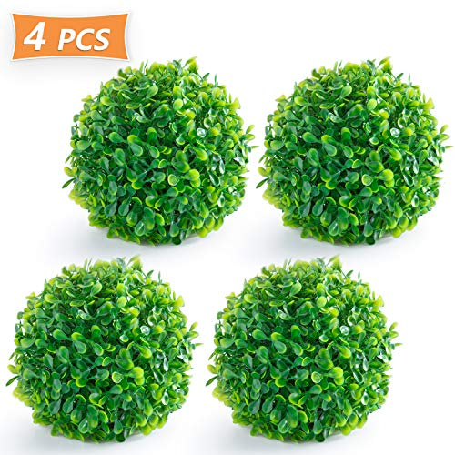 - Timoo Boxwood Ball, 4 Pack Fuax Boxwood Decorative Balls Artificial Topiary Plant for Table Decoration, Backyard, Garden, Wedding Decor and Home Decor, 6 Inches