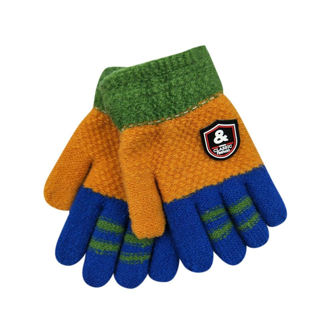 Hot Sale! TRENDINAO Winter Kids Toddler Boys Girls Knit Warm Gloves for Age 3-8 Years