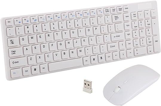 reetec 2,4 gHz USB inalámbrico teclado y ratón Combo Set Bundle para Windows 10/8/7/Vista/XP, Notebook, Laptop, Smart TV: Amazon.es: Electrónica