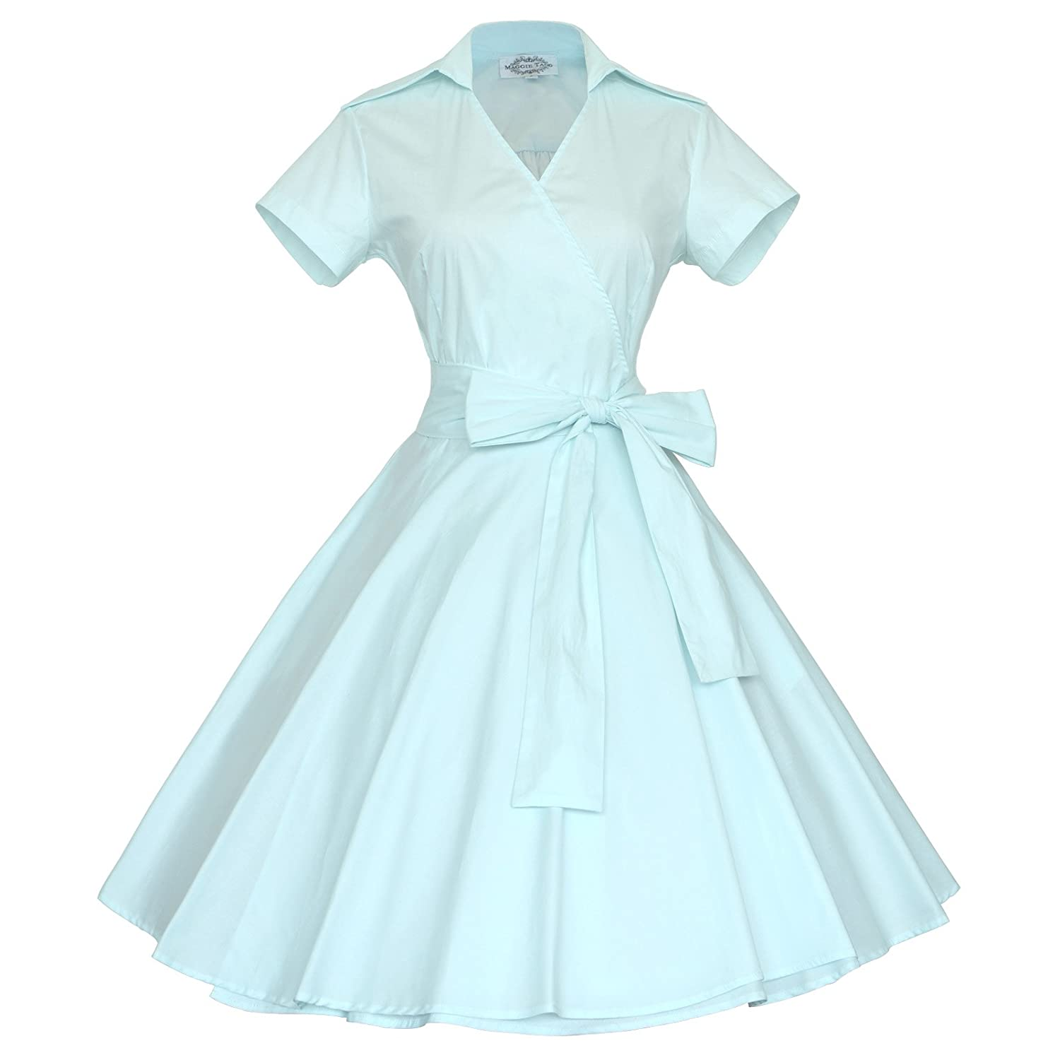 Maggie Tang 50s 60s Vintage Short Sleeves Swing Rockabilly Ball ...