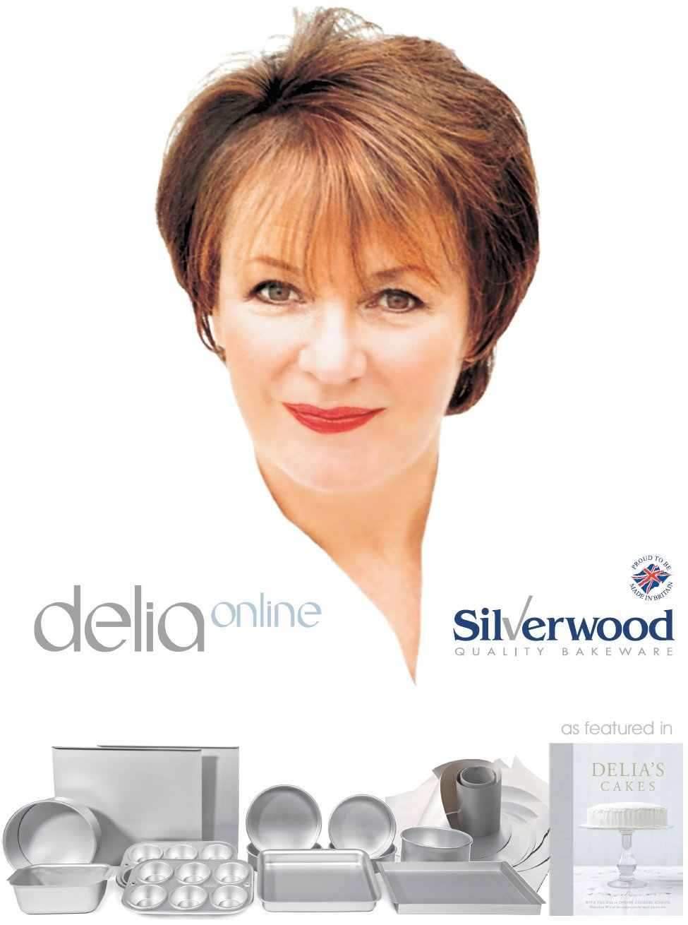 Alan Silverwood Delia Smith Silver Anodised Aluminium Bakeware Part Set - 99524