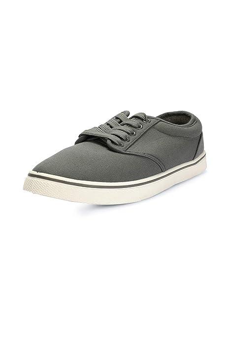 Peter England Men's Grey Sneakers-7 UK