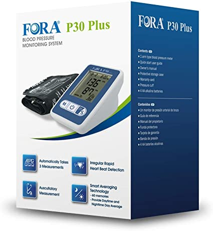FORA P30 Plus Arm Blood Pressure Monitor with Smart Averaging Technology, Precise with 3 Measurements in 2 Minutes, Adjustable Cuff, 60 Test Memories, ...
